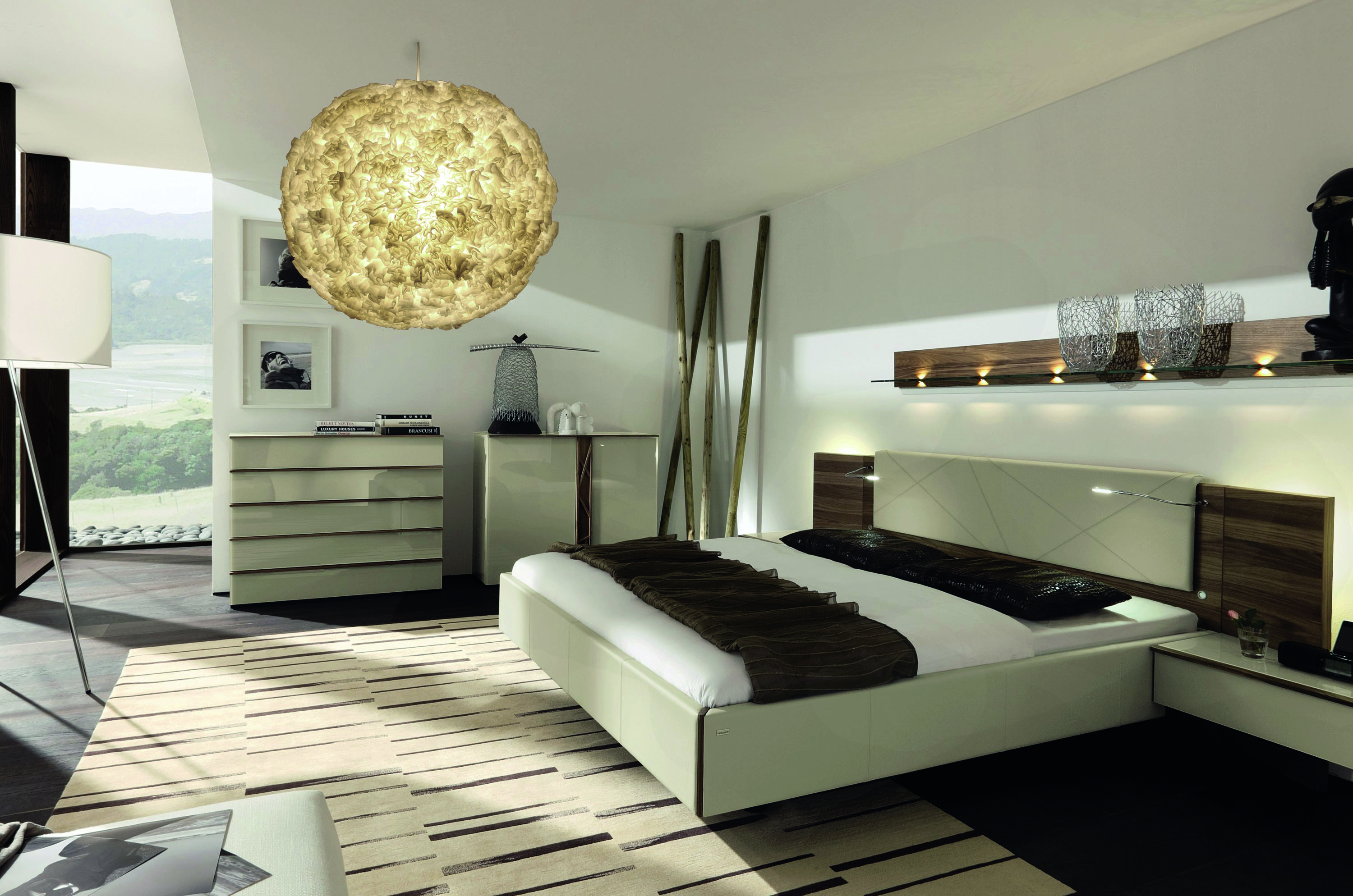 schlafzimmer lampe modern. Black Bedroom Furniture Sets. Home Design Ideas